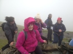 Weather conditions during the walk were challenging, and it was worse at the top!