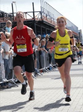Andy beats his personal best with a lady from Southampton