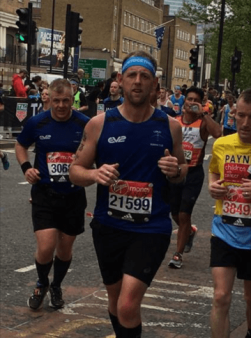 Andy competing in a half marathon